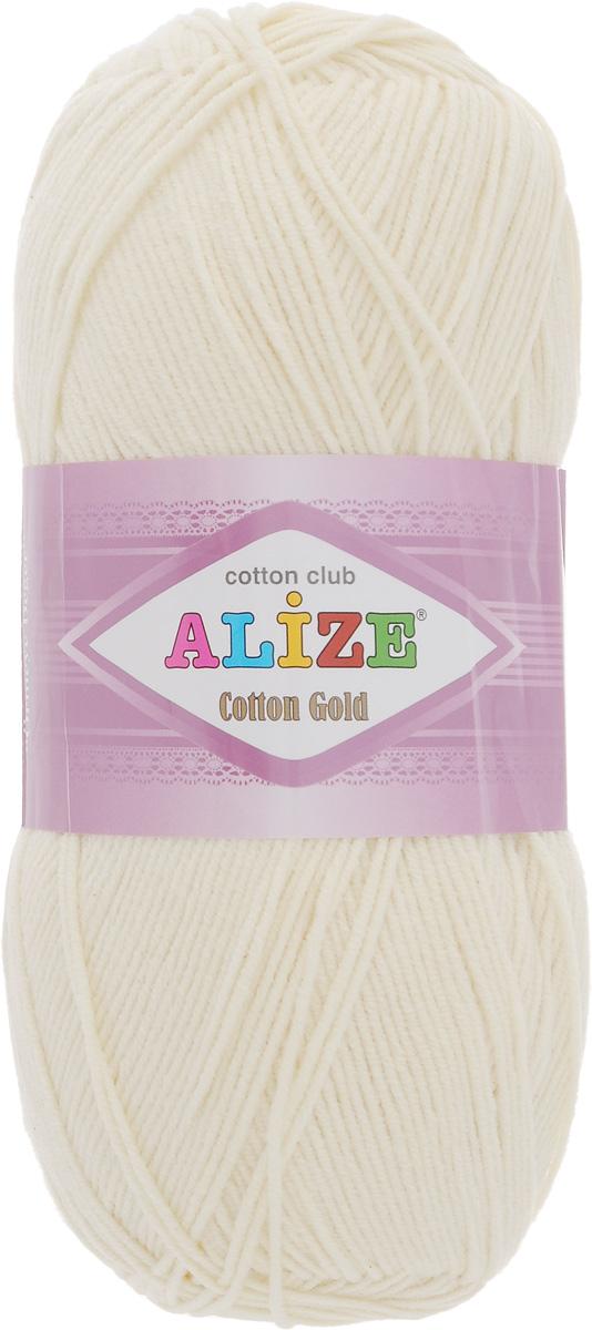 Пряжа Cotton gold 100 г, 330 м. (55% хлопок, 45% акрил)ТУ. 697548_01697548_0155%хлопок,45%акрил