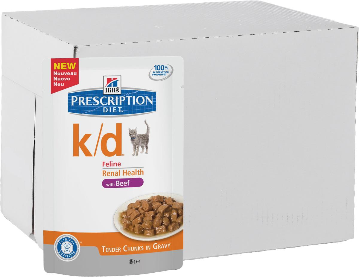 Консервы для кошек Hills Prescription Diet. K/D, при заболевании почек и урологическом синдроме, с говядиной, 85 г, 12 шт3411Консервы для кошек Hills Prescription Diet. K/D рекомендуются при хронических заболеваниях почек, при заболеваниях сердца, при уратном и цистиновом уролитиазе. Не рекомендуется котятам, беременным и кормящим кошкам, кошкам с дефицитом натрия в организме. В 2-х летнем исследовании клинически доказано что у кошек, питавшихся рационом Hills Prescription Diet k/d Feline, значительно реже отмечались эпизоды уремии и снижался уровень смертности. Ключевые преимущества: - Сниженное содержание фосфора помогает замедлить развитие заболевания почек. - Контролируемое содержание протеина помогает снизить накопление токсичных продуктов белкового обмена, в то же время удовлетворяя потребность организма в протеинах. Уменьшает концентрацию в моче компонентов уратных и цистиновых уролитов. - Повышенное содержание непротеиновых калорий помогает обеспечить поступление энергии и не допускает катаболизма протеинов. - Повышенная буферная емкость...