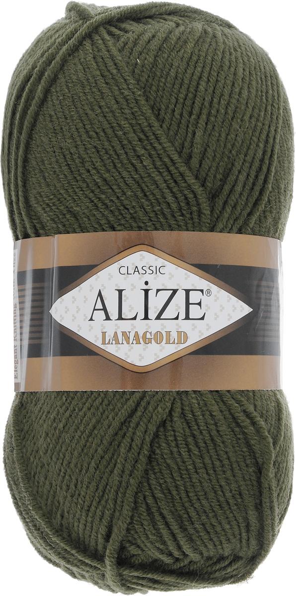 Пряжа для вязания Alize Lanagold, цвет: зеленый (29), 240 м, 100 г, 5 шт364095_29Alize Lanagold - это полушерстяная пряжа для ручного вязания. Нить плотно скручена, гибкая, послушная, не пушится, не электризуется, аккуратно ложится в петли и не деформируется после распускания. Стойкое равномерное окрашивание обеспечивает широкую палитру оттенков. Соотношение шерсти и акрила - формула практичности. Высокие тепловые характеристики сочетаются с эстетикой, носкостью и простотой ухода за вещью. Классическая пряжа для зимнего сезона, может использоваться для детской и взрослой одежды. Alize Lanagold - универсальная пряжа, которая будет хорошо смотреться в узорах любой сложности. Рекомендуемый размер спиц 4-6 мм. Состав: 49% шерсть, 51% акрил.
