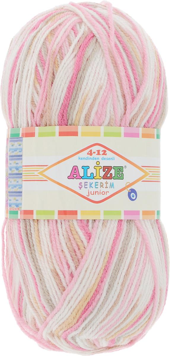 Пряжа для вязания Alize Sekerim Junior, цвет: белый, розовый, коричневый (806), 320 м, 100 г, 5 шт364082_806Пряжа для вязания Alize Sekerim Junior изготовлена из акрила. Фантазийная пряжа для ручного вязания отлично подойдет для детских вещей. Ниточка мягкая и приятная на ощупь. Подходит для вязания спицами и крючком. Рекомендованные спицы 3-4 мм и крючок для вязания 2-4 мм. Состав: 100% акрил.