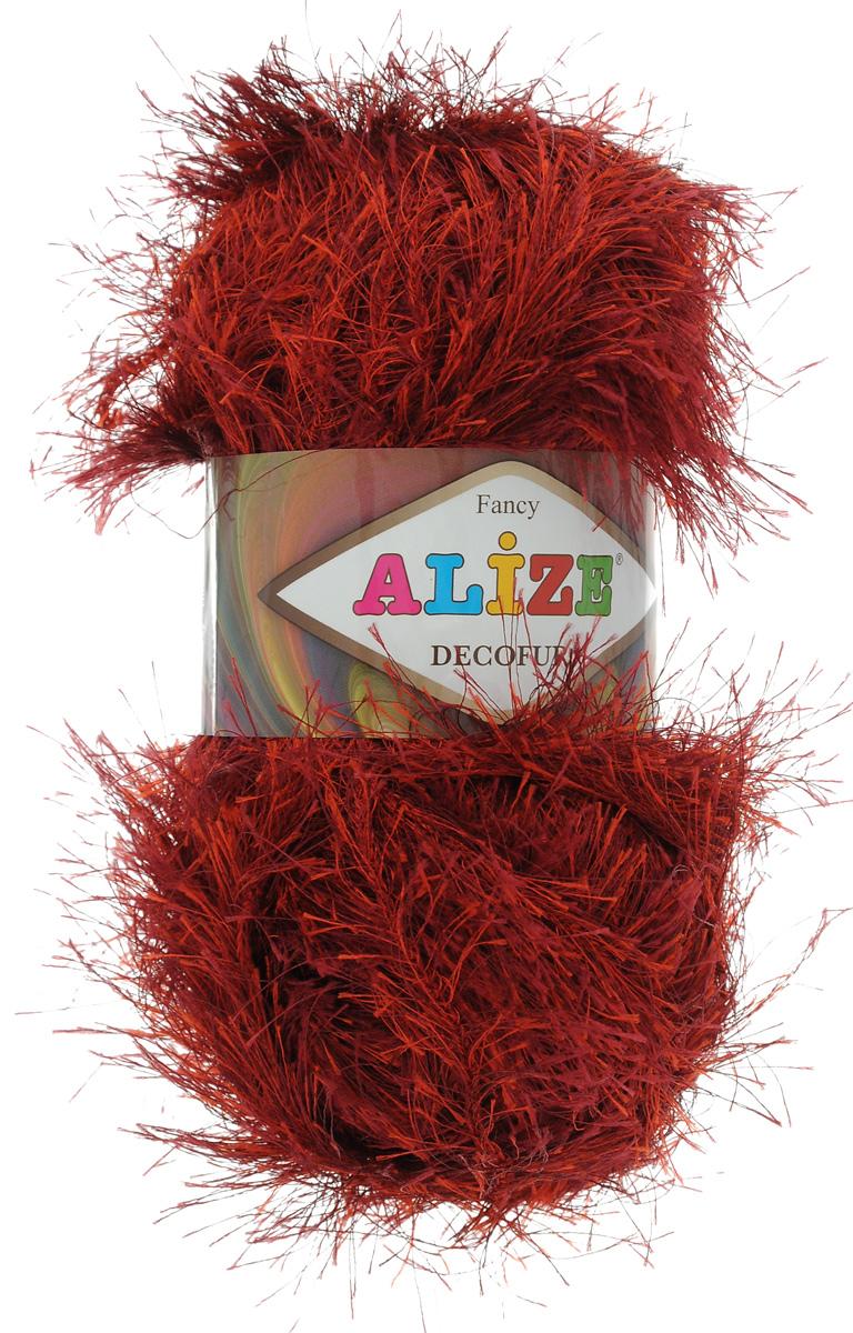 Пряжа для вязания Alize Decofur, цвет: бордо (1373), 110 м, 100 г, 5 шт364128_1373Пряжа Alize Decofur изготовлена из высококачественного полиэстера. Пряжа - травка используется как для вязания самостоятельных пушистых изделий, так и для отделки. Это могут быть нарядные кофточки, куртки, накидки, шарфы, шапки, шали, предметы домашнего интерьера, игрушки и многое другое. Рекомендованные спицы для вязания: 6-8 мм. Рекомендованный крючок для вязания: 3-4 мм. Комплектация: 5 шт. Состав: 100% полиэстер.