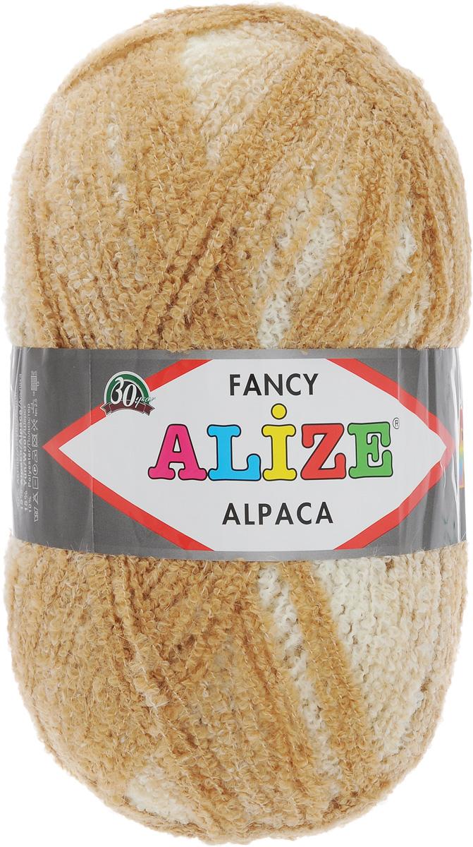 Пряжа для вязания Alize Rainbow Alpaca Fancy, цвет: бежевый, светло-коричневый (1069), 875 м, 350 г364012_1069Пряжа Alize Rainbow Alpaca Fancy мягкая, нежная на ощупь, буклированная нить средней толщины. Пряжа подходит для теплых демисезонных и зимних вещей: пальто, куртки, кофты, пончо. Вяжут также покрывало и пледы. Готовое изделие получается пышным, теплым и уютным. Пряжа имеет плавный переход одного цвета в другой. Благодаря этому изделие получается нарядным и приятным для глаз. Состав: 15% альпака, 15% шерсть, 60% акрил, 10% полиэстер. Рекомендованные спицы № 4-6, крючок № 2-4. Длина: 875 м. Вес: 350 г.