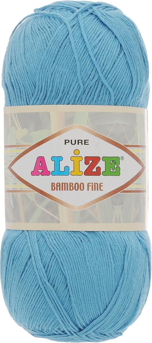 Пряжа для вязания Alize Bamboo Fine, цвет: голубой (128), 440 м, 100 г, 5 шт688988_128Легкая пряжа Alize Bamboo Fine подходит для ручного вязания детских и взрослых вещей. Приятная на ощупь, обладающая высокой гигроскопичностью. Пряжа Alize Bamboo Fine из бамбука подойдет для самых разных вязаных изделий: сарафанов, туник, платьев, легких костюмов, кофт, шалей и накидок. Ее с одинаковым успехом можно использовать и для спиц, и для вязания крючком. В палитре большой выбор ярких цветов и пастельных мягких оттенков. Не стоит с предубеждением относиться к искусственной пряже, ведь она обладает целым рядом преимуществ. За изделиями из пряжи Alize Bamboo Fine проще ухаживать, они не подвержены скатыванию, не вызывают аллергии, не собирают пыль, не линяют и не оставляют ворсинок на другой одежде. Рекомендованный размер спиц: № 2,5-3,5 мм, Рекомендованный размер крючка: № 1-3 мм. Состав: 100% бамбук.