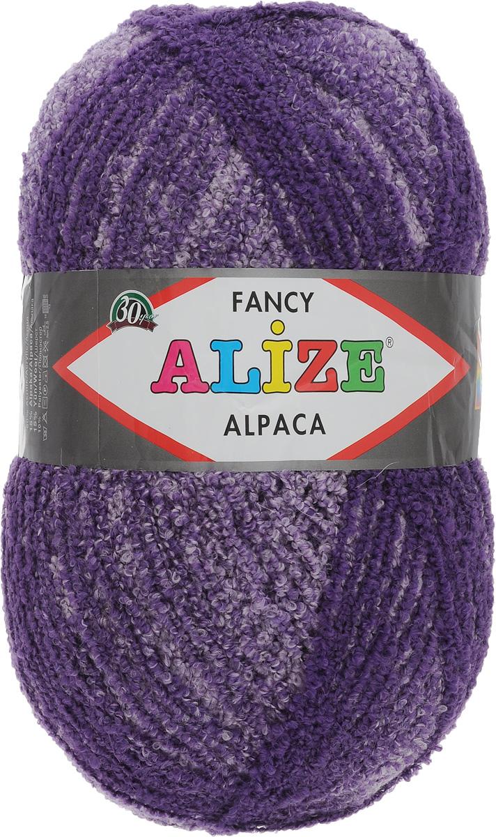 Пряжа для вязания Alize Rainbow Alpaca Fancy, цвет: фиолетовый (1306), 875 м, 350 г364012_1306Пряжа Alize Rainbow Alpaca Fancy мягкая, нежная на ощупь, буклированная нить средней толщины. Пряжа подходит для теплых демисезонных и зимних вещей: пальто, куртки, кофты, пончо. Вяжут также покрывало и пледы. Готовое изделие получается пышным, теплым и уютным. Пряжа имеет плавный переход одного цвета в другой. Благодаря этому изделие получается нарядным и приятным для глаз. Состав: 15% альпака, 15% шерсть, 60% акрил, 10% полиэстер. Рекомендованные спицы № 4-6, крючок № 2-4. Длина: 875 м. Вес: 350 г.