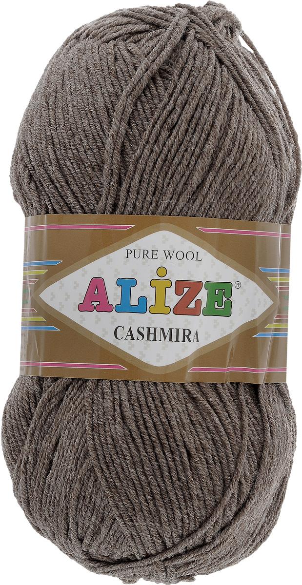 Пряжа для вязания Alize Cashmira, цвет: пепельно-коричневый (240), 300 м, 100 г, 5 шт364009_240Пряжа для вязания Alize Cashmira изготовлена из 100% шерсти. Пряжа упругая, эластичная, теплая, уютная и не колется, что очень подходит для детей. Тонкая нитка прекрасно подойдет для вязки демисезонных вещей. Пряжа легко распускается и перевязывается несколько раз, не деформируясь и не влияя на вид изделия. Натуральная шерстяная нить, обеспечивает изделию прекрасную форму. Состав: шерсть 100%. Рекомендуется ручная стирка при температуре 30 °C. Рекомендованные спицы № 3-5, крючок № 2-4. Комплектация: 5 мотков.