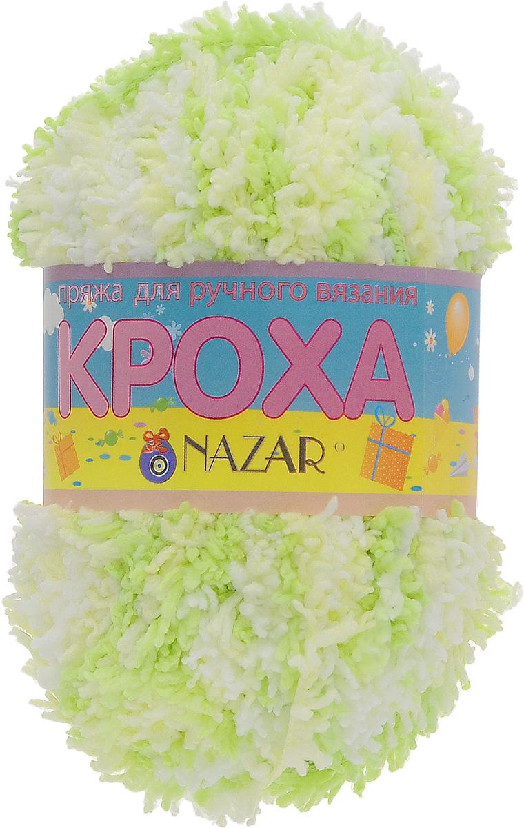 Пряжа для вязания детская Nazar Кроха, цвет: белый, зеленый (1355), 75 м, 50 г, 10 шт349017_1355Nazar Кроха - это фантастически мягкая пряжа, изготовленная из 100% микрополиэстера. Такая пряжа идеально подойдет для изготовления игрушек или детской одежды. Изделия практичны в носке и уходе. Рекомендуется вязать спицами платочной или чулочной вязкой (кулинарная гладь). Комплектация: 10 мотков. Состав: 100% микрополиэстер.