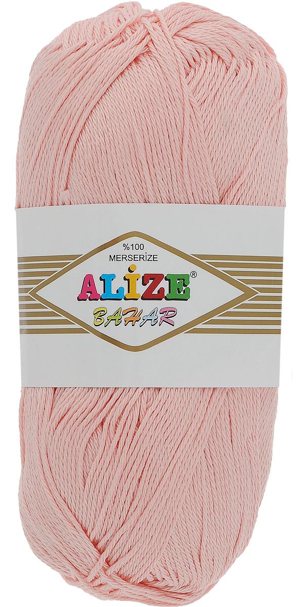 Пряжа для вязания Alize Bahar, цвет: светло-розовый (143), 260 м, 100 г, 5 шт364089_143Пряжа Alize Bahar подходит для ручного вязания детям и взрослым. Пряжа однотонная, приятная на ощупь, хорошо лежит в полотне. Изготовлена из специально обработанного хлопка. Мерсеризация придает нити особый блеск. Пряжа Alize Bahar отлично подходит для работы и крючком, и спицами, послушно ложится в узоры любой сложности, предназначена для вывязывания летних легких вещей. В силу натуральности и экологической чистоты эта пряжа подходит и для детских вещей. Изделия из такой нити получаются мягкие и красивые. Рекомендуемый размер спиц: №3-5. Рекомендуемый размер крючка: №2-4. Состав: 100% мерсеризованный хлопок.