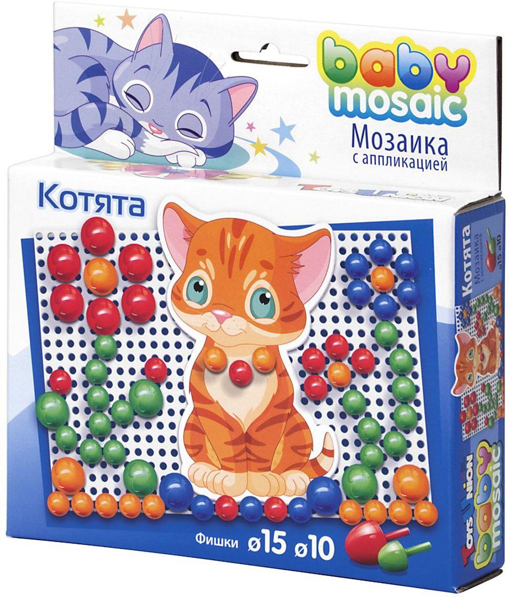 ToysUnion Детская Мозаика с аппликацией Котята00-014Мозаика – захватывающая игра для развития детей от 4-х лет и старше. Игра предназначена для развития творческого таланта ребенка, его воображения, координации, способности работать с маленькими объектами. Благодаря сочетанию мозаики и аппликации появляется возможность выйти за рамки платы, расширяя тем самым игровое пространство, что позволяет ребенку проявлять творческую активность. Элементы мозаики сделаны из легкого, небьющегося, легко моющегося, высококачественного материала, абсолютно безопасного для здоровья ребенка.