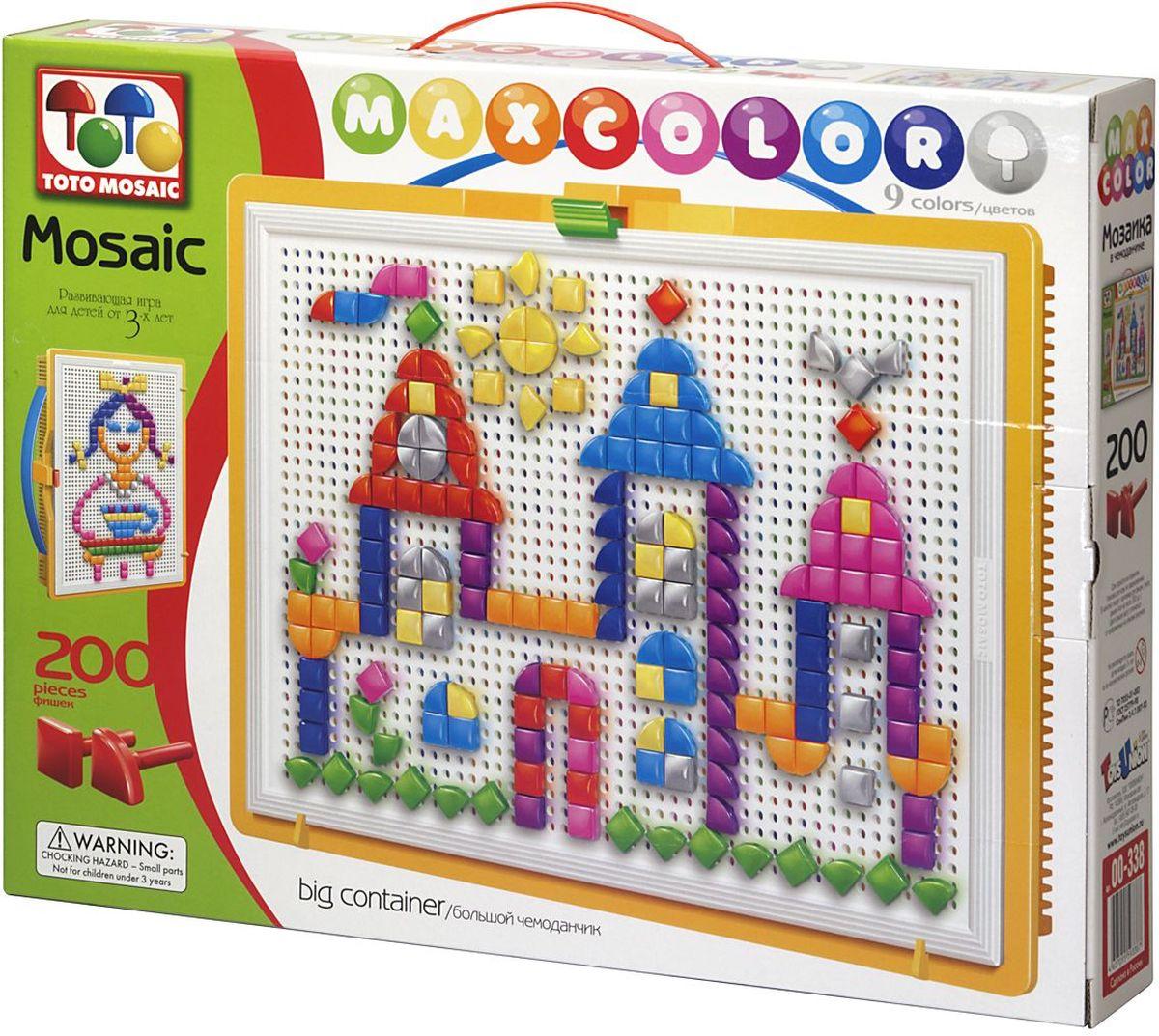 Toto Mosaic Мозаика Волшебный замок00-338Мозаика «MAXCOLOR» Big container- интересная, увлекательная игра для детей от 3х лет и старше. Она способствует развитию творческих способностей ребенка, его воображения, внимания, усидчивости, умению доводить начатое дело до конца, а так же координации и моторики движения рук. Все эти качества делают мозаику незаменимым пособием для успешной подготовки ребенка 3-5 лет к школе. Комплектация «MAXCOLOR» ФИШКИ Игра комплектуется фишками различного размера (o 20, o 15, o 10, o 5) округлой формы, которые удобно и приятно держать в руках, поэтому с ними справится даже самый крохотный малыш. Фишки o 20 рассчитаны на самых маленьких игроков. Так же, в этой серии имеются наборы, комплектуемые треугольными и квадратными фишками. Они рассчитаны на детей постарше. ПЛАТА Все фишки легко крепятся и легко снимаются с игрового поля – платы, которая позволяет малышу не ограничивать свои движения при складывании мозаики. Её оригинальная конструкция предотвращает...