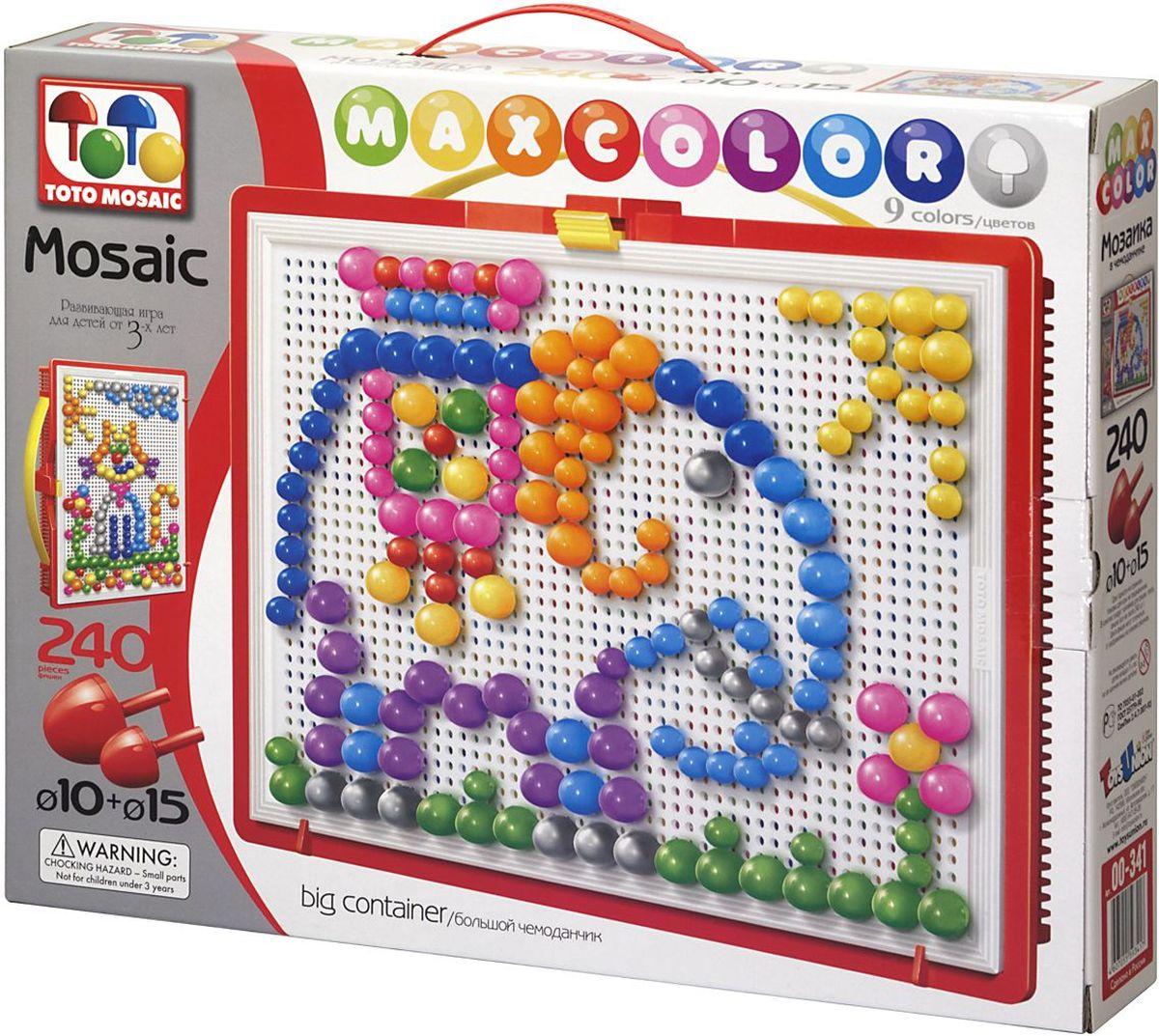 Toto Mosaic Мозаика В мире животных00-341Мозаика «MAXCOLOR» Big container- интересная, увлекательная игра для детей от 3х лет и старше. Она способствует развитию творческих способностей ребенка, его воображения, внимания, усидчивости, умению доводить начатое дело до конца, а так же координации и моторики движения рук. Все эти качества делают мозаику незаменимым пособием для успешной подготовки ребенка 3-5 лет к школе. Комплектация «MAXCOLOR» ФИШКИ Игра комплектуется фишками различного размера (o 20, o 15, o 10, o 5) округлой формы, которые удобно и приятно держать в руках, поэтому с ними справится даже самый крохотный малыш. Фишки o 20 рассчитаны на самых маленьких игроков. Так же, в этой серии имеются наборы, комплектуемые треугольными и квадратными фишками. Они рассчитаны на детей постарше. ПЛАТА Все фишки легко крепятся и легко снимаются с игрового поля – платы, которая позволяет малышу не ограничивать свои движения при складывании мозаики. Её оригинальная конструкция предотвращает выпадение фишек...