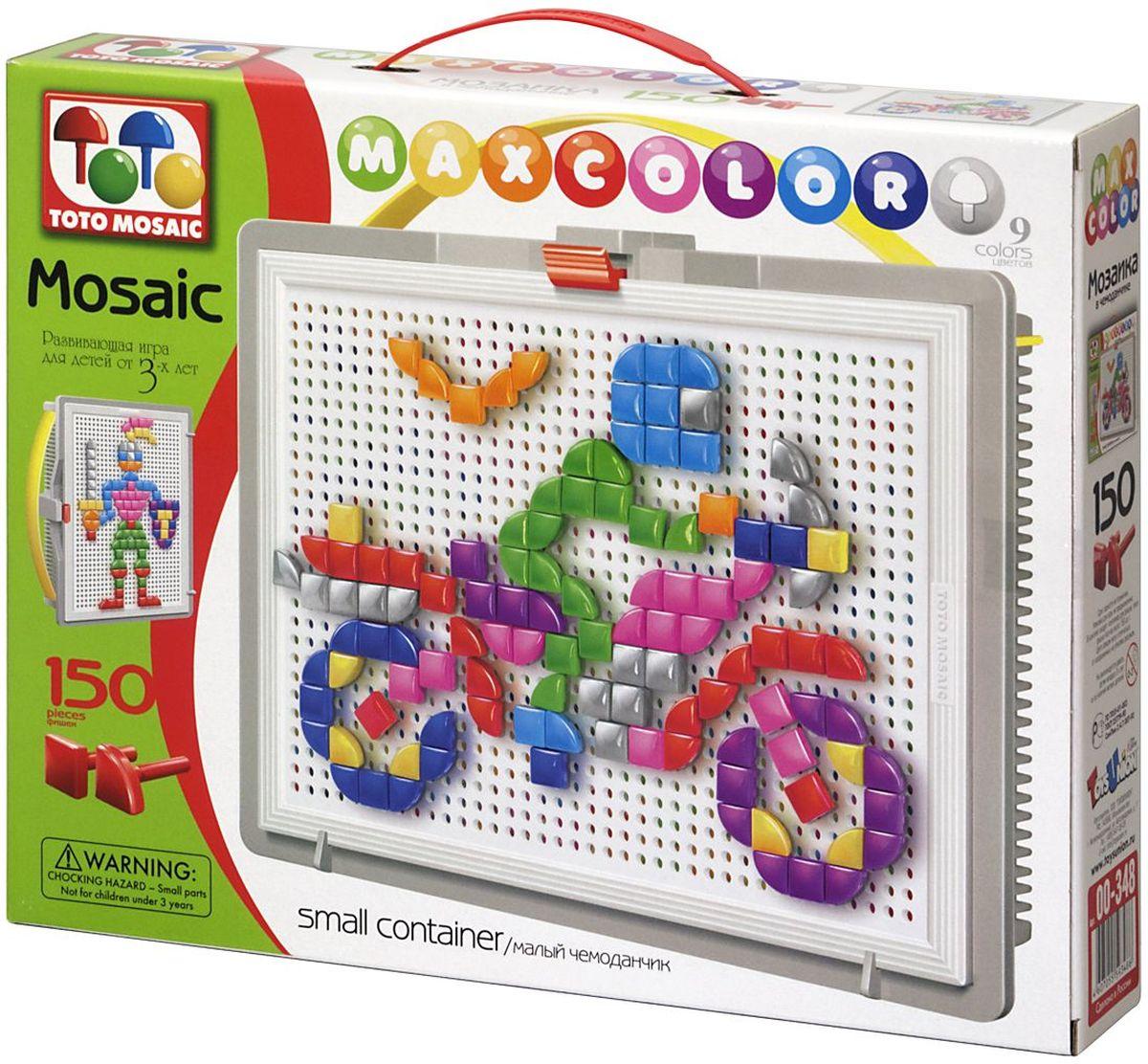 Toto Mosaic Мозаика Скорость00-348Мозаика «MAXCOLOR» Smal container – яркая, увлекательная, развивающая игра для детей от 3-х лет и старше. Она способствует развитию творческих способностей ребенка, его воображения, внимания, усидчивости, умению доводить начатое дело до конца, а так же координации и моторики движения рук. Все эти качества делают мозаику незаменимым пособием для успешной подготовки ребят 3-5 лет к началу обучения в школе. Комплектация «MAXCOLOR» ФИШКИ Игра комплектуется фишками различного размера (o 20, o 15, o 10, o 5) округлой формы, которые удобно и приятно держать в руках, поэтому с ними справится даже самый крохотный малыш. Фишки o 20 рассчитаны на самых маленьких игроков. Так же, в этой серии имеются наборы, комплектуемые треугольными и квадратными фишками. Они рассчитаны на детей постарше. ПЛАТА Все фишки легко крепятся и легко снимаются с игрового поля – платы, которая позволяет малышу не ограничивать свои движения при складывании мозаики. Её оригинальная конструкция...