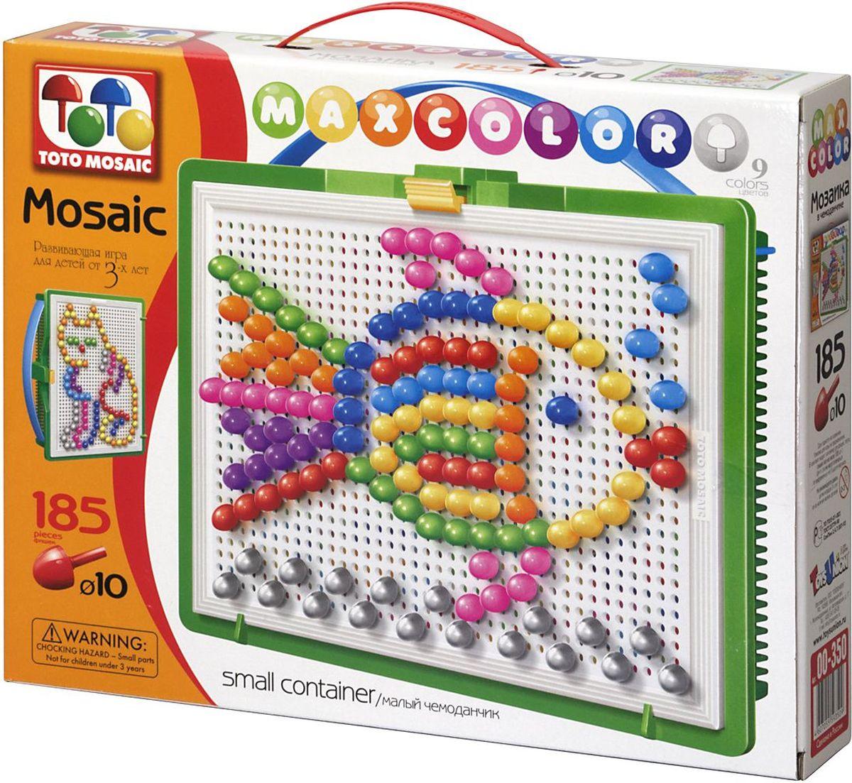 Toto Mosaic Мозаика Домашние любимцы00-350Мозаика «MAXCOLOR» Smal container – яркая, увлекательная, развивающая игра для детей от 3-х лет и старше. Она способствует развитию творческих способностей ребенка, его воображения, внимания, усидчивости, умению доводить начатое дело до конца, а так же координации и моторики движения рук. Все эти качества делают мозаику незаменимым пособием для успешной подготовки ребят 3-5 лет к началу обучения в школе. Комплектация «MAXCOLOR» ФИШКИ Игра комплектуется фишками различного размера (o 20, o 15, o 10, o 5) округлой формы, которые удобно и приятно держать в руках, поэтому с ними справится даже самый крохотный малыш. Фишки o 20 рассчитаны на самых маленьких игроков. Так же, в этой серии имеются наборы, комплектуемые треугольными и квадратными фишками. Они рассчитаны на детей постарше. ПЛАТА Все фишки легко крепятся и легко снимаются с игрового поля – платы, которая позволяет малышу не ограничивать свои движения при складывании мозаики. Её оригинальная конструкция...