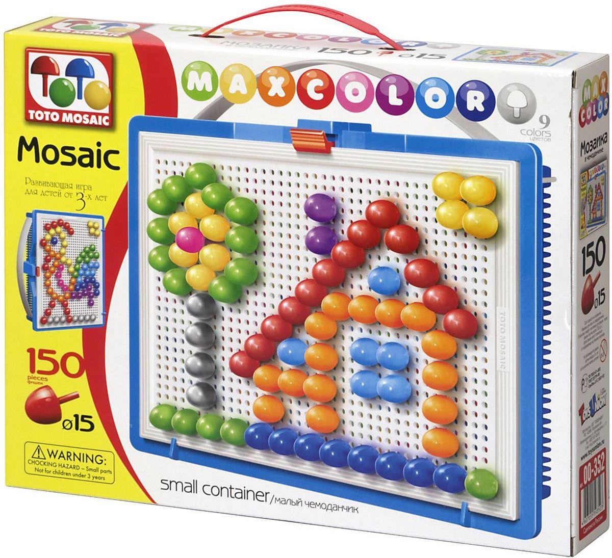 Toto Mosaic Мозаика Лесная избушка00-352Мозаика «MAXCOLOR» Smal container – яркая, увлекательная, развивающая игра для детей от 3-х лет и старше. Она способствует развитию творческих способностей ребенка, его воображения, внимания, усидчивости, умению доводить начатое дело до конца, а так же координации и моторики движения рук. Все эти качества делают мозаику незаменимым пособием для успешной подготовки ребят 3-5 лет к началу обучения в школе. Комплектация «MAXCOLOR» ФИШКИ Игра комплектуется фишками различного размера (o 20, o 15, o 10, o 5) округлой формы, которые удобно и приятно держать в руках, поэтому с ними справится даже самый крохотный малыш. Фишки o 20 рассчитаны на самых маленьких игроков. Так же, в этой серии имеются наборы, комплектуемые треугольными и квадратными фишками. Они рассчитаны на детей постарше. ПЛАТА Все фишки легко крепятся и легко снимаются с игрового поля – платы, которая позволяет малышу не ограничивать свои движения при складывании мозаики. Её оригинальная конструкция...