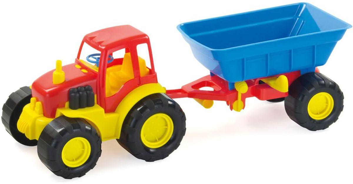 Zebratoys Трактор с прицепом цвет красный синий15-5229Трактор с прицепом Zebratoys привлечет внимание вашего ребенка и станет его любимой игрушкой. Изделие выполнено из безопасного материала. Трактор снабжен устойчивыми колесами со свободным ходом. В своем прицепе трактор может перевозить песок или снег. Ваш маленький строитель увлеченно будет играть с таким трактором, придумывая различные истории. Порадуйте его таким замечательным подарком!