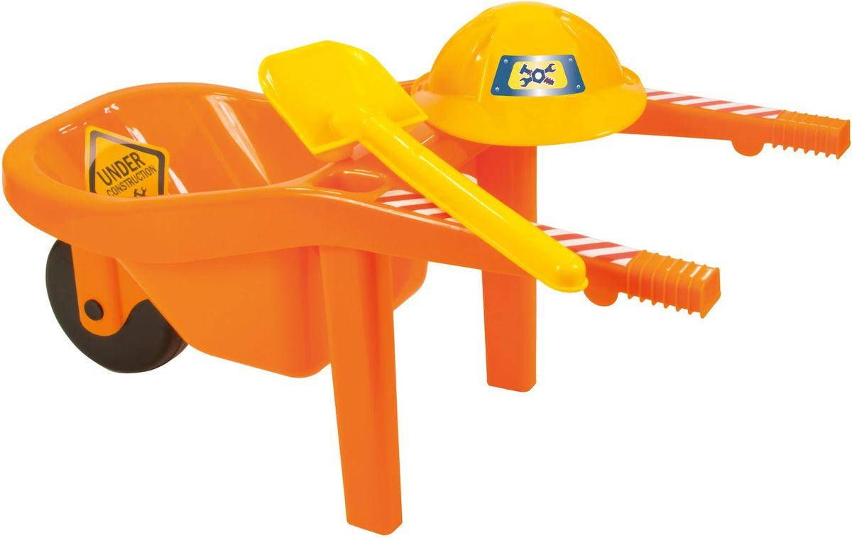 Zebratoys Тачка с каской и лопатой15-10699Тачка с каской и лопатой это замечательный набор для игры в песочнице, ваш ребенок окунётся в игровой процесс и получит истинное удовольствие.