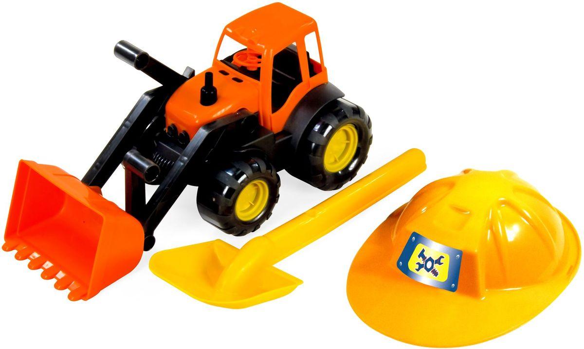 Zebratoys Трактор c каской и лопатой15-10593Трактор с каской и лопатой это замечательный набор для игры в песочнице, ваш ребенок окунётся в игровой процесс и получит истинное удовольствие.