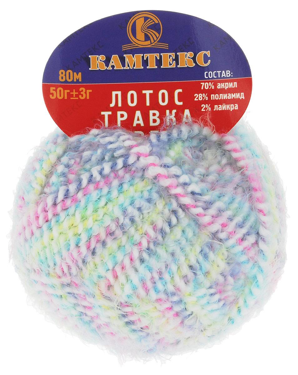 Пряжа для вязания Камтекс Лотос травка стрейч, цвет: бирюзовый, розовый, салатовый (239), 80 м, 50 г, 10 шт136081_239Пряжа для вязания Камтекс Лотос травка стрейч имеет интересный и необычный состав: 70% акрил, 28% полиамид, 2% лайкра. Акрил отвечает за мягкость, полиамид за прочность и формоустойчивость, а лайкра делает полотно необыкновенно эластичным. Эта волшебная плюшевая ниточка удивляет своей мягкостью, вяжется очень просто и быстро, ворсинки не путаются. Из этой пряжи получатся замечательные мягкие игрушки, которые будут не только приятны, но и абсолютно безопасны для маленьких детей. А яркие и сочные оттенки подарят ребенку радость и хорошее настроение. Рекомендуемый размер крючка и спиц: №3-6. Состав: 70% акрил, 28% полиамид, 2% лайкра.