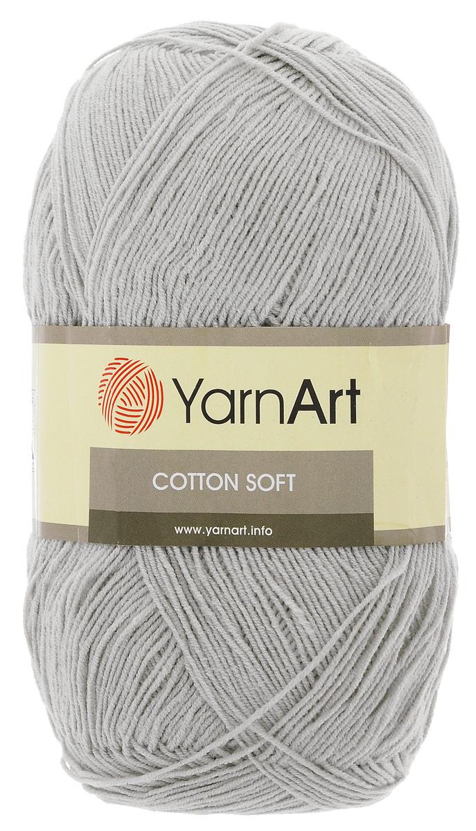 Пряжа для вязания YarnArt Cotton Soft, цвет: серый (49), 600 м, 100 г, 5 шт372071_49Пряжа для вязания YarnArt Cotton Soft изготовлена из хлопка и полиакрила. Эта универсальная пряжа подходит для вязания крючком и спицами, а также для машинного вязания. Нить ровная, тонкая, не линяет и не выгорает. Прекрасно подойдет для создания водолазок, платьев, юбок, шалей, а также детских вещей. Изделия из этой пряжи получаются мягкие, очень легкие, износостойкие. Цветовая гамма пряжи очень богатая, вы можете пополнить свой гардероб изделиями из нее на любой сезон: джемпером, жакетом, свитером и другими полезными и оригинальными вещами, которые прослужат вам и вашим близким очень долго и не создадут трудностей в уходе за ними. Рекомендованные спицы и крючок 2,5 мм. Состав: 55% хлопок, 45% полиакрил.