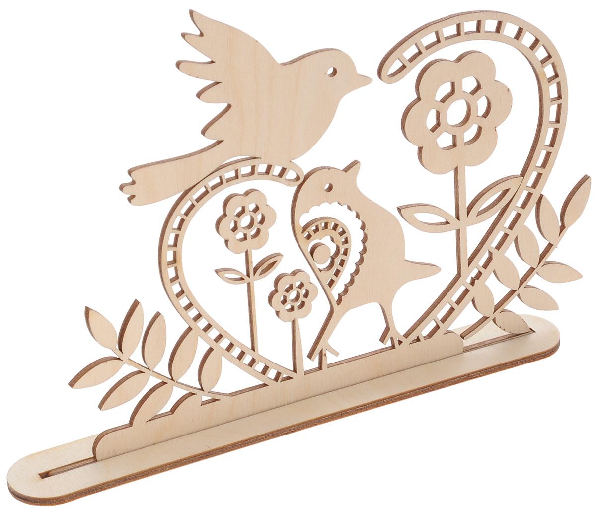 Заготовка деревянная Buratini Птичья весна, на подставке, 200 х 139 ммDZ50006Заготовка Buratini Птичья весна изготовлена из самого легкого материала для работы - фанеры. В ней прекрасно сочетаются пластичность форм, линий и художественная выразительность. Благодаря таким качествам заготовки, вы можете реализовать свои самые смелые творческие фантазии: оформить ее в технике декупаж, расписать красками, украсить мозаикой, пайетками, лентами или бисером.