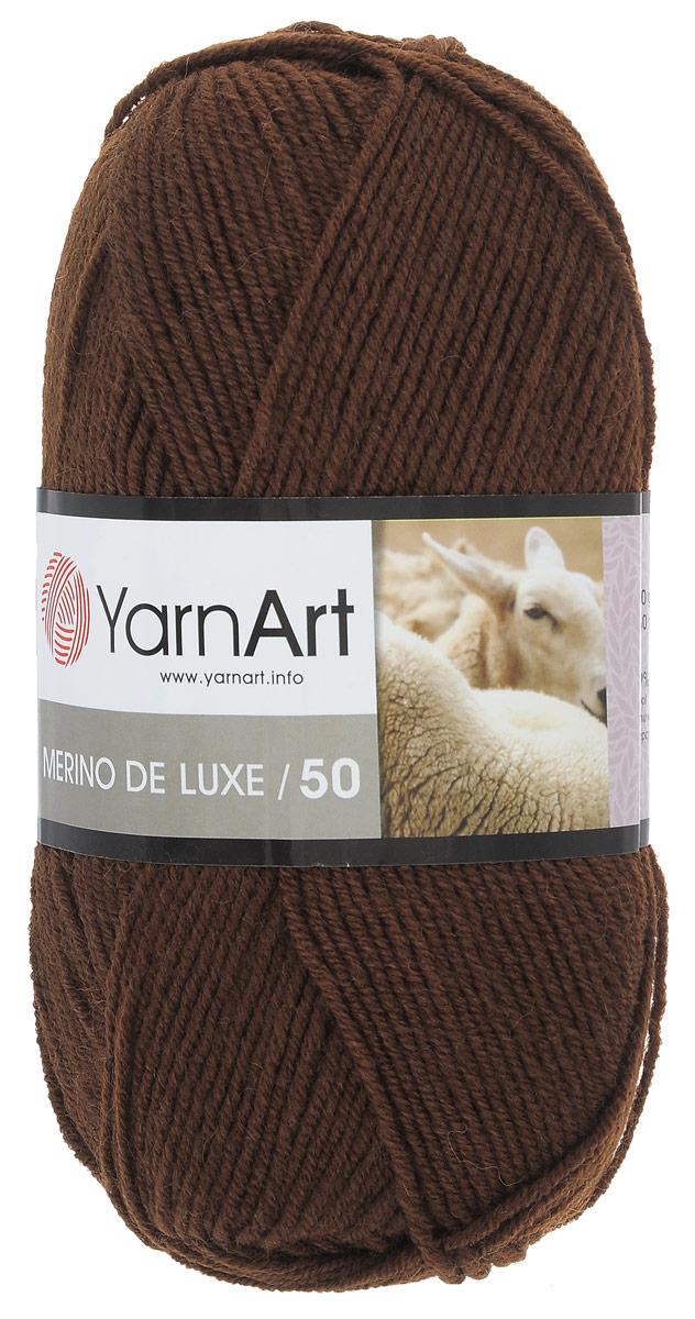Пряжа для вязания YarnArt Merino de Lux, цвет: коричневый (3067), 280 м, 100 г, 5 шт372049_3067Классическая пряжа для вязания YarnArt Merino de Lux изготовлена из шерсти и акрила. Пряжа очень мягкая и приятная на ощупь. Теплая, уютная, эта пряжа идеально подходит для вязки демисезонных вещей. Шапочки, шарфы, снуды, свитера, жилеты вяжутся из этой пряжи быстро и легко. Изделия приятны в носке и долго не теряют форму после ручной стирки. Рекомендуются спицы 3,5 мм, крючок 4 мм. Состав: 49% шерсть, 51% акрил.
