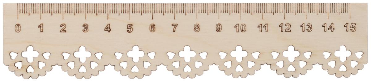 Заготовка деревянная Астра Узор. Линейка, 16,5 x 3,5 см554011Заготовка Астра Узор. Линейка изготовлена из самого легкого материала для работы - фанеры. В ней прекрасно сочетаются пластичность форм, линий и художественная выразительность. Благодаря таким качествам заготовки, вы можете реализовать свои самые смелые творческие фантазии: оформить ее в технике декупаж, расписать красками, украсить мозаикой, пайетками, лентами или бисером.