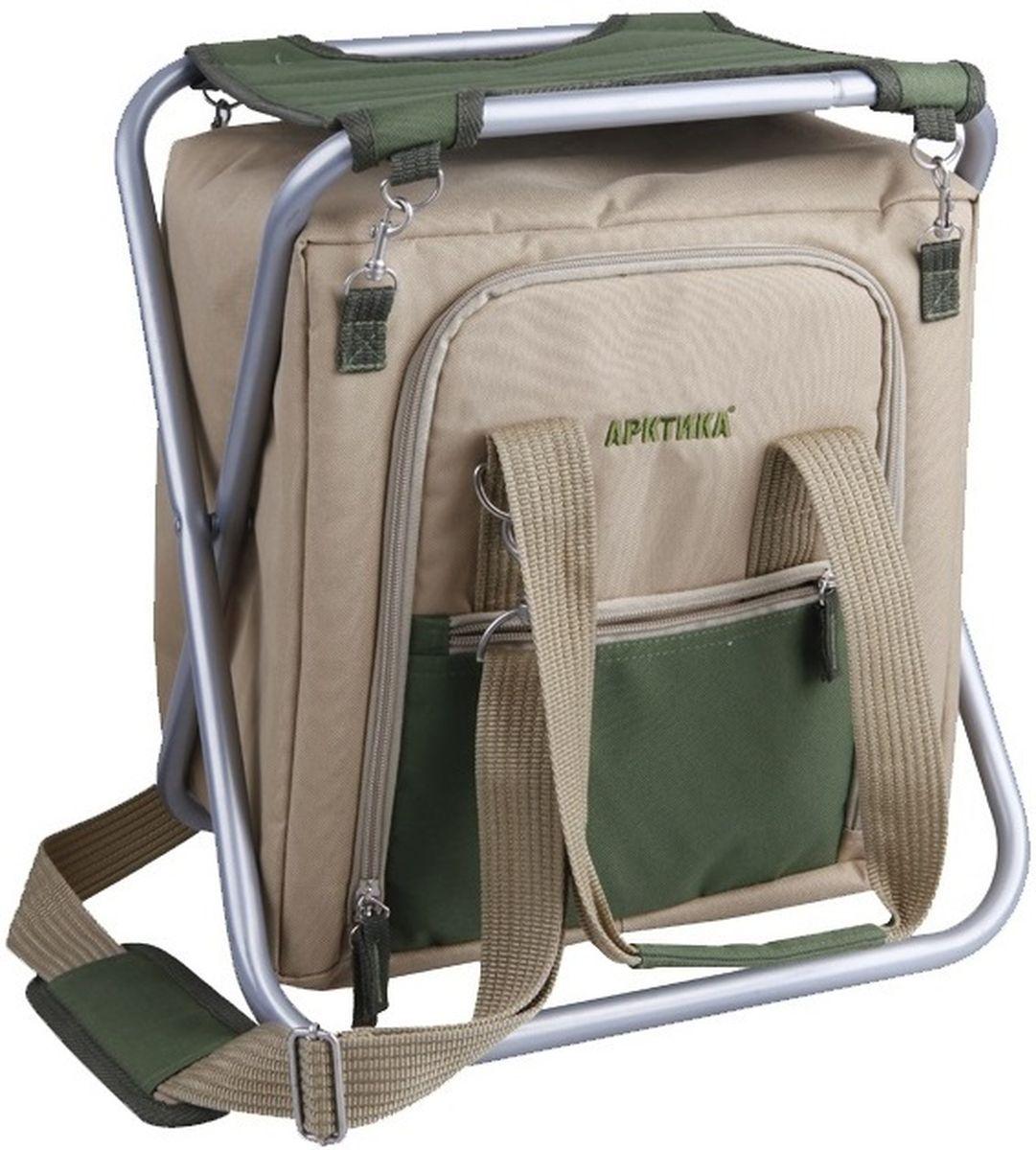 Сумка-холодильник Арктика, цвет: коричневый3500-1 сумка со стуломСумка-холодильник со складным стульчиком, 20 л. Внешний материал: оксфорд. Внутренний материал: экологичный водонепроницаемый материал PEVA.