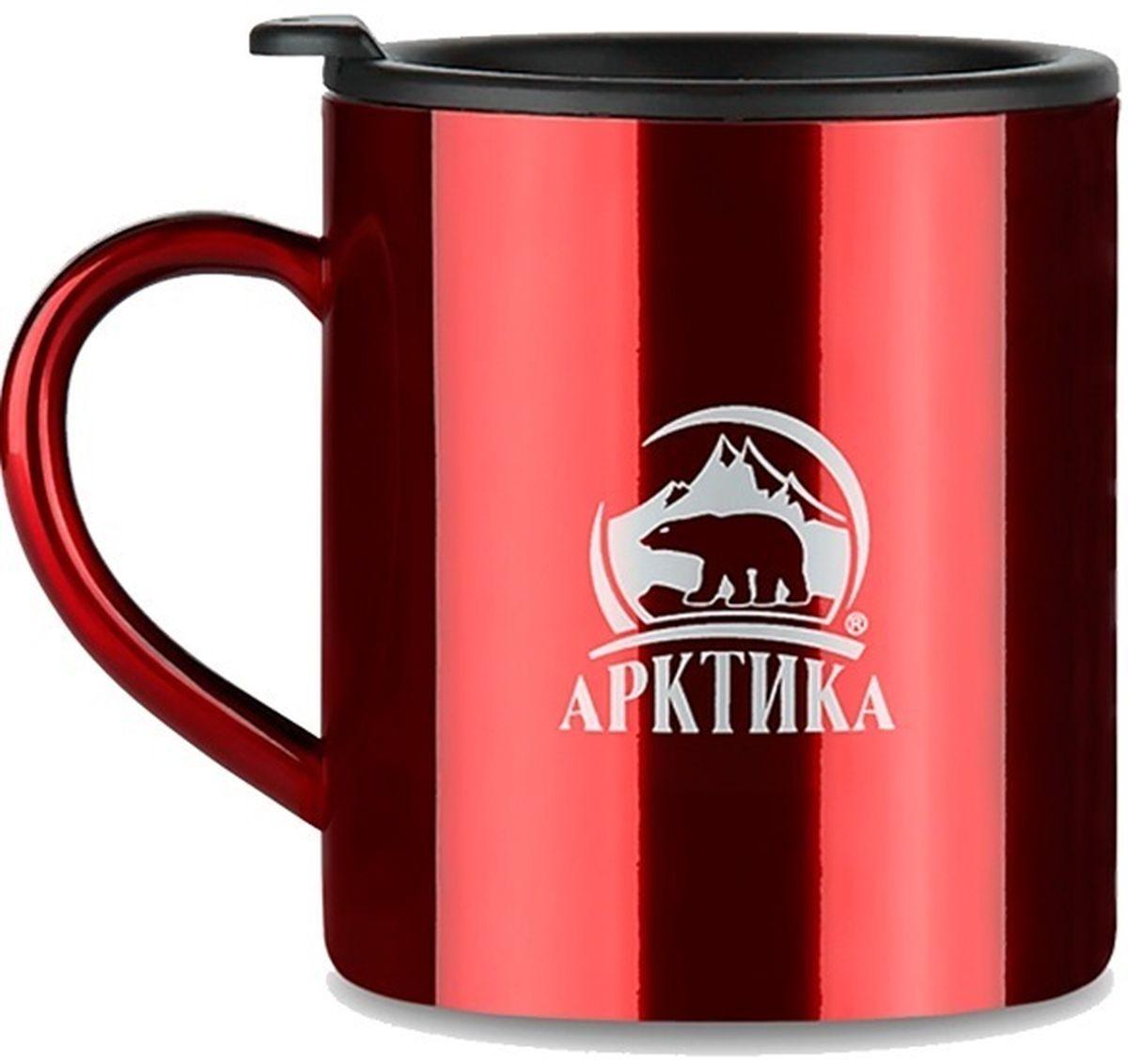 Термокружка Арктика, цвет: красный, 0,4 л802-400 краснаяТермокружка Арктика – универсальна, она одинаково хороша и при использовании дома, если Вы любите растягивать удовольствие от напитка и Вам не нравится, что он так быстро остывает, и на даче, где такая посуда особенно впору в силу своей прочности, долговечности и практичности – ею приятно пользоваться, ведь она не обжигает руки, ее легко мыть, можно не бояться уронить термокружку Арктика, нержавеющая сталь равнодушно выдержит любые удары судьбы. Крышка с отверстием, поставляемая в комплекте плотно фиксируется на термокружке. Помимо той очевидной выгоды, что напиток не будет разливаться, Вы можете быть уверены, что в жаркий летний день любопытные насекомые не смогут позариться на содержимоетермокружки. Русская компания Арктика выпускает термопосуду для российского рынка – Вы не платите за растаможку товара и огромные транспортные наценки, поэтому цена натермокружки Арктика более чем адекватна, что не может не радовать