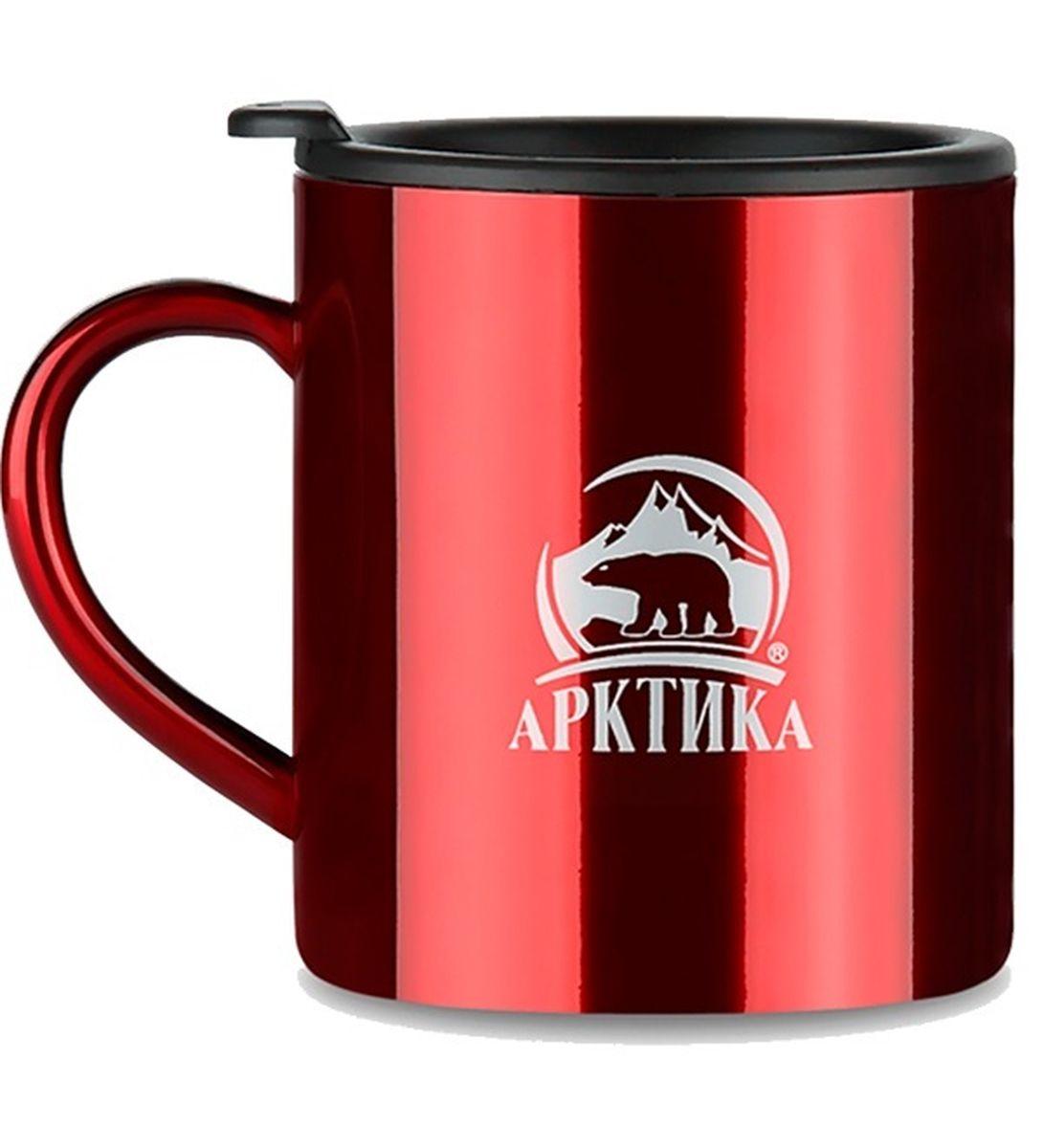 Термокружка Арктика, цвет: красный, 0,45 л802-450 краснаяТермокружка Арктика – универсальна, она одинаково хороша и при использовании дома, если Вы любите растягивать удовольствие от напитка и Вам не нравится, что он так быстро остывает, и на даче, где такая посуда особенно впору в силу своей прочности, долговечности и практичности – ею приятно пользоваться, ведь она не обжигает руки, ее легко мыть, можно не бояться уронить термокружку Арктика, нержавеющая сталь равнодушно выдержит любые удары судьбы. Крышка с отверстием, поставляемая в комплекте плотно фиксируется на термокружке. Помимо той очевидной выгоды, что напиток не будет разливаться, Вы можете быть уверены, что в жаркий летний день любопытные насекомые не смогут позариться на содержимоетермокружки. Русская компания Арктика выпускает термопосуду для российского рынка – Вы не платите за растаможку товара и огромные транспортные наценки, поэтому цена натермокружки Арктика более чем адекватна, что не может не радовать