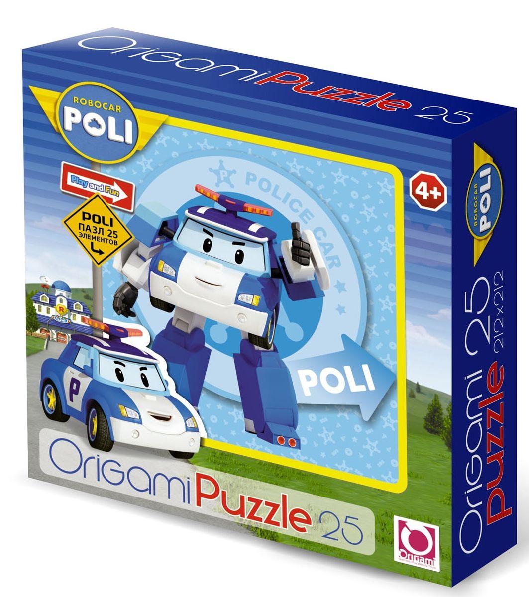 Оригами Пазл Robocar 25А 0016000160Пазл Робокар на 25 деталей. Пазл за пазлом ребёнок будет узнавать о весёлых приключениях машинок-трансформеров, в игровой форме ребёнок научится правилам дорожного движения. Составление пазла станет развивающим досугом для малыша и подарит хорошее настроение. Размер пазла 22х22. Рекомендуемый возраст 3+.