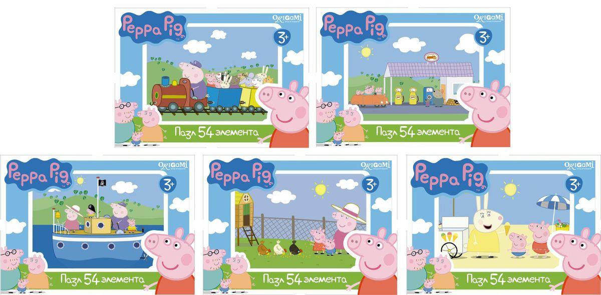 Оригами Мини-пазл Peppa Pig На корабле 54А 0159601596Мини-пазл Peppa Pig на 54 деталей. Пазл за пазлом ребёнок будет узнавать о весёлых приключениях Свинки Пеппы. Составление пазла станет развивающим досугом для малыша, т.к. тренирует пространственное мышление, моторику рук, а так же подарит хорошее настроение.