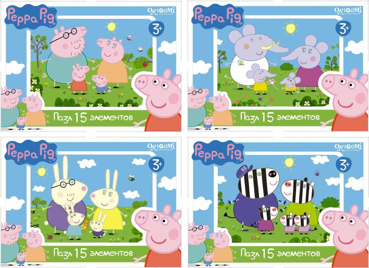 Оригами Мини-пазл Peppa Pig Заяц 15А 0159301593Мини-пазл Peppa Pig на 15 деталей. Пазл за пазлом ребёнок будет узнавать о весёлых приключениях Свинки Пеппы. Составление пазла станет развивающим досугом для малыша, т.к. тренирует пространственное мышление, моторику рук, а так же подарит хорошее настроение.
