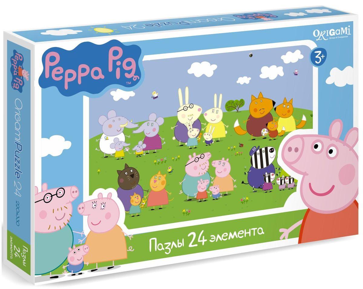 Оригами Пазл Peppa Pig 24A 0157001570Пазл Peppa Pig на 24 деталей. Пазл за пазлом ребёнок будет узнавать о весёлых приключениях Свинки Пеппы. Составление пазла станет развивающим досугом для малыша, т.к. тренирует пространственное мышление, моторику рук, а так же подарит хорошее настроение.