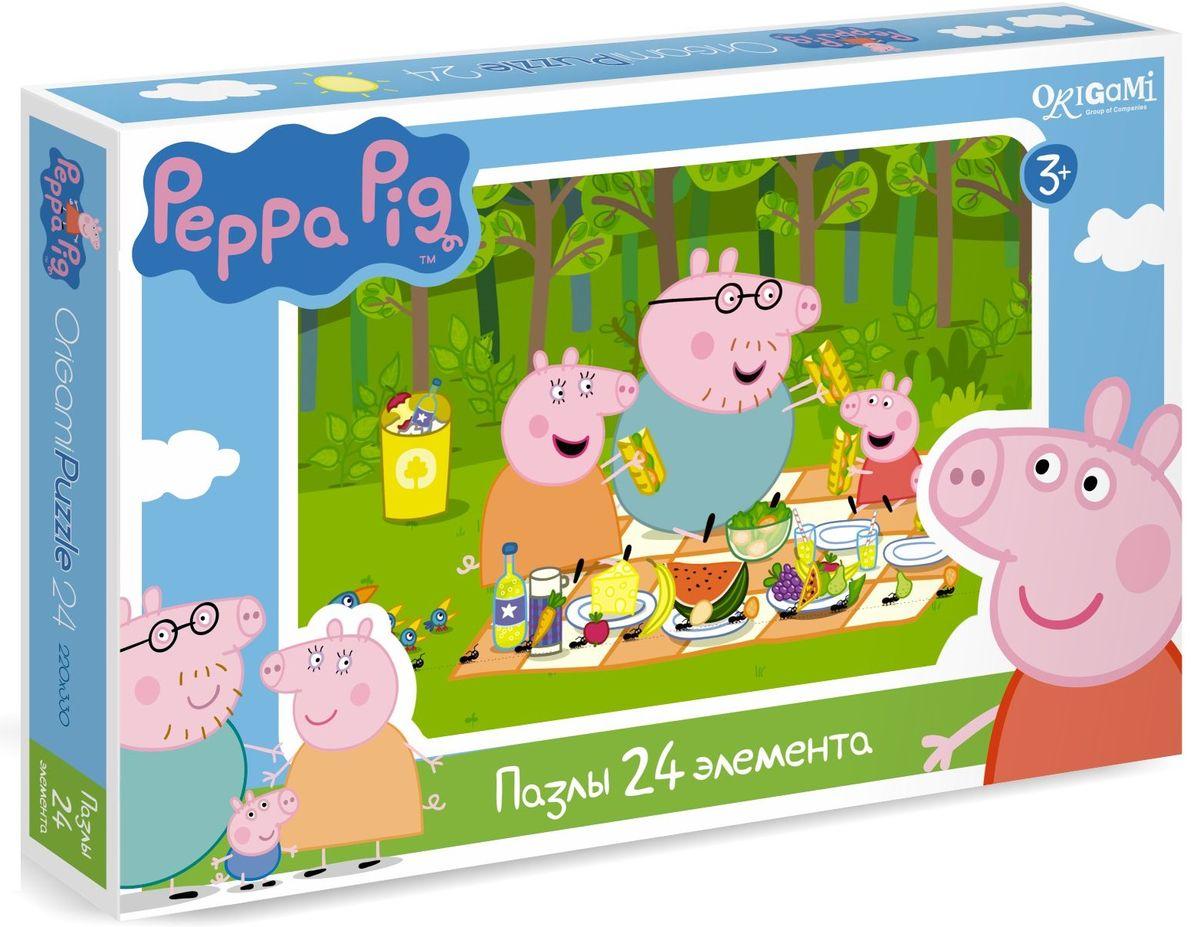 Оригами Пазл Peppa Pig 24А 0157101571Пазл Peppa Pig на 24 деталей. Пазл за пазлом ребёнок будет узнавать о весёлых приключениях Свинки Пеппы. Составление пазла станет развивающим досугом для малыша, т.к. тренирует пространственное мышление, моторику рук, а так же подарит хорошее настроение.