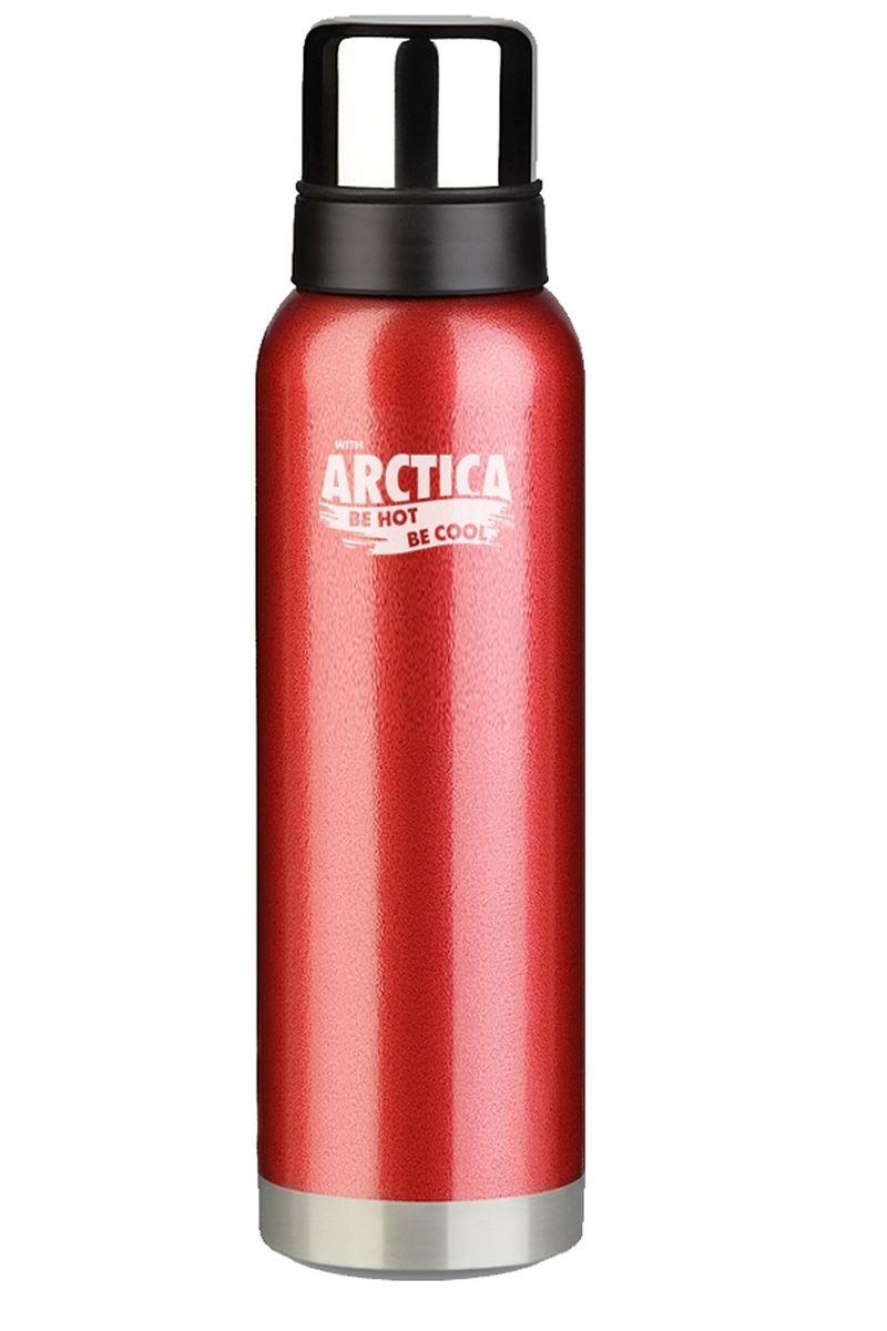 Термос Арктика, с чашей, цвет: красный, стальной, черный, 900 мл106-900 красныйТермос Арктика изготовлен из высококачественной нержавеющей стали с матовой полировкой. Двойная колба из нержавеющей стали сохраняет напитки горячими и холодными до 28 часов. В комплекте дополнительная пластиковая чашка. Удобный, компактный и практичный термос пригодится в путешествии, походе и поездке. Не рекомендуется использовать в микроволновой печи и мыть в посудомоечной машине. Диаметр горлышка: 4,5 см. Диаметр основания термоса: 7,5 см. Высота термоса: 31 см. Время сохранения температуры (холодной и горячей): 28 часов.