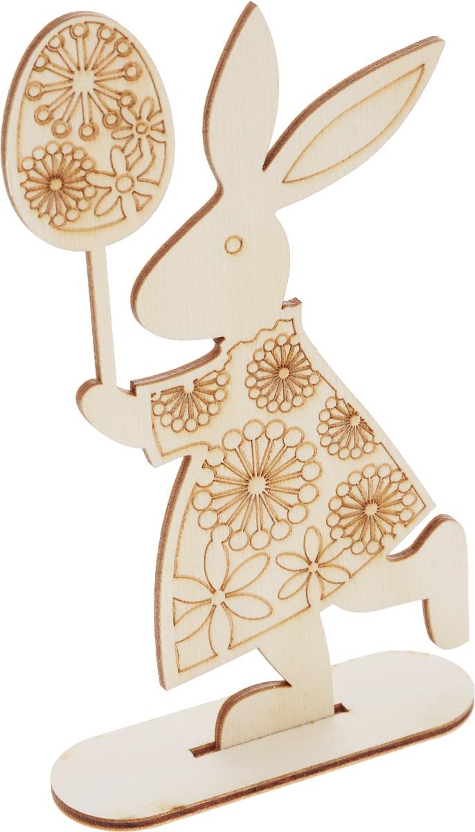 Заготовка деревянная Buratini Пасхальный зайчик, на подставке, 88 х 154 ммDZ10004Заготовка Buratini Пасхальный зайчик изготовлена из самого легкого материала для работы - фанеры. В ней прекрасно сочетаются пластичность форм, линий и художественная выразительность. Благодаря таким качествам заготовки, вы можете реализовать свои самые смелые творческие фантазии: оформить ее в технике декупаж, расписать красками, украсить мозаикой, пайетками, лентами или бисером.