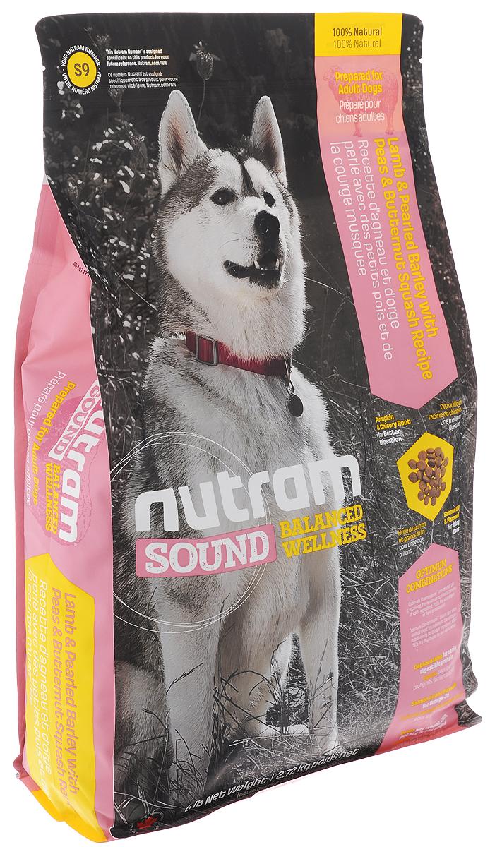 Корм сухой Nutram Sound Balanced Wellness S9 для взрослых собак, с ягненком, перловкой, горохом и тыквой, 2,72 кг83099Сухой корм Nutram Sound Balanced Wellness S9 - натуральный сбалансированный корм для взрослых собак. Целостный (holistic), полезный, богатый питательными веществами сухой корм для собак, который улучшает самочувствие и здоровье питомцев по принципу изнутри наружу. Рецептура корма соответствует возрастным нормам питания для собак, установленным ассоциацией AAFCO. Состав: дегидрированное мясо ягненка, мясо ягненка без костей, перловая крупа, дегидрированное мясо курицы, коричневый рис, овсяная мука, зеленый горошек, куриный жир, сушеная свекольная масса, натуральный ароматизатор ягненка, люцерна, жир лососевых рыб, яблоко, льняное семя, хлористый калий, тыква мускатная, тыква, брокколи, морская соль, хлорид холина, корень цикория (пребиотик), DL-метионин, витамины и минералы (витамин E, витамин А, витамин D3, витамин В3, витамин С, витамин B5, витамин B1, витамин B2, бета-каротин, витамин В6, витамин B9, витамин B7, витамин B12, протеинат цинка, сульфат...