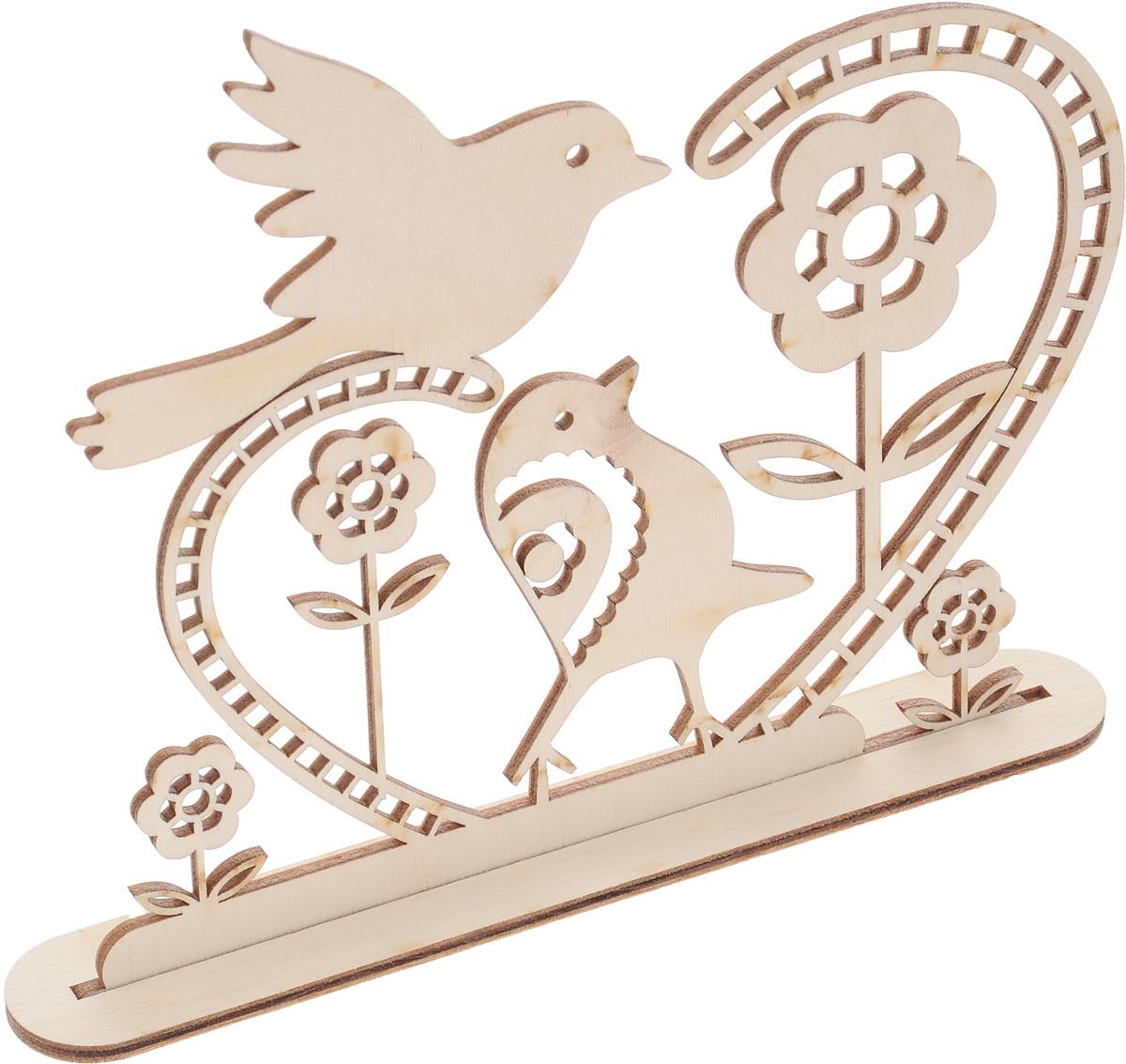 Заготовка деревянная Buratini Пришла весна, на подставке, 179 х 150 ммDZ50007Заготовка Buratini Пришла весна изготовлена из самого легкого материала для работы - фанеры. В ней прекрасно сочетаются пластичность форм, линий и художественная выразительность. Благодаря таким качествам заготовки, вы можете реализовать свои самые смелые творческие фантазии: оформить ее в технике декупаж, расписать красками, украсить мозаикой, пайетками, лентами или бисером.