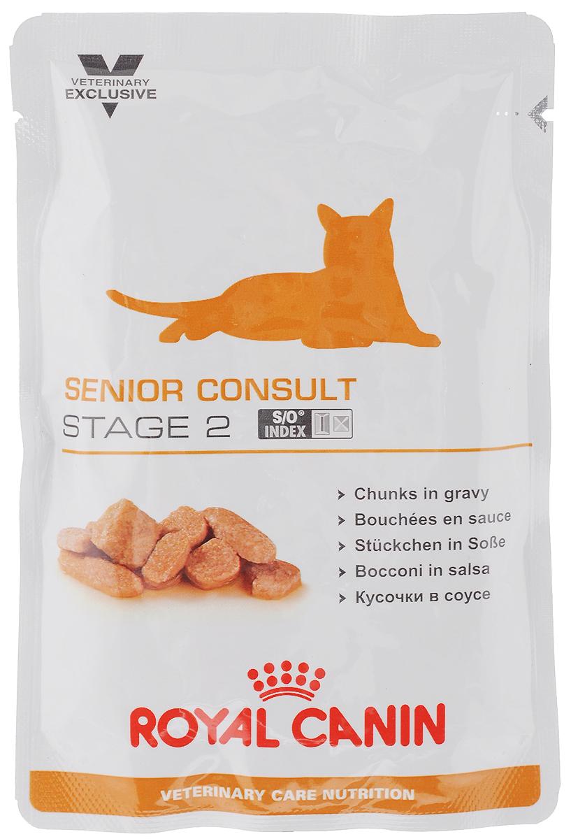 Консервы Royal Canin Senior Consult Stage 2 для кошек старше 7 лет, 100 г44737Консервы Royal Canin Senior Consult Stage 2 предназначены для котов и кошек старше 7 лет, имеющих видимые признаки старения. Продукт подходит как для кастрированных/стерилизованных, так и для некастрированных/нестерилизованных котов и кошек. Особенности: - Поддержание здоровья в старости Комплекс антиоксидантов синергичного действия (витамин С, витамин Е, лютеин, таурин) в сочетании с ликопеном снижают уровень окислительного стресса. Умеренное содержание фосфора позволяет поддерживать нормальную работу почек. Благодаря жирным кислотам EHA/DHA, обеспечивается поддержка здоровья суставов стареющей кошки. Корм содержит белки, в которых представлены аминокислоты с разветвленными цепями, а также L-триптофан в оптимальной концентрации. - Повышенное содержание энергии Повышенное содержание жиров в корме увеличивает энергоемкость рациона, что необходимо для стареющих кошек, у которых с возрастом может снижаться способность ассимилировать жиры....