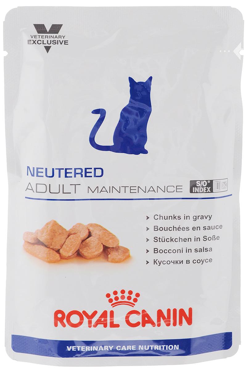 Консервы Royal Canin Neutered Adult Maitenance для кастрированных котов и стерилизованных кошек, 100 г44715Консервы Royal Canin Neutered Adult Maitenance предназначены для кастрированных/стерилизованных котов и кошек с момента операции до 7 лет. Особенности: - Оптимальный вес Диета с высоким содержанием белка поддерживает мышечную массу тела. По сравнению с углеводами, белок обеспечивает организм меньшим объемом чистой энергии. - Комплекс антиоксидантов Комплекс антиоксидантов синергичного действия (витамин Е, витамин С, таурин, лютеин) нейтрализует воздействие свободных радикалов. - S/O Index Знак S/O Index на упаковке означает, что диета предназначена для создания в мочевыделительной системе среды, неблагоприятной для образования струвитных кристаллов и кристаллов оксалата кальция. Состав: свиная печень, свинина и мясо птицы, пшеничная мука, целлюлоза, пшеничная клейковина, минеральные вещества, желирующее вещество, таурин, гидролизат дрожжей (источник маннановых олигосахаридов), экстракт бархатцев прямостоячих...