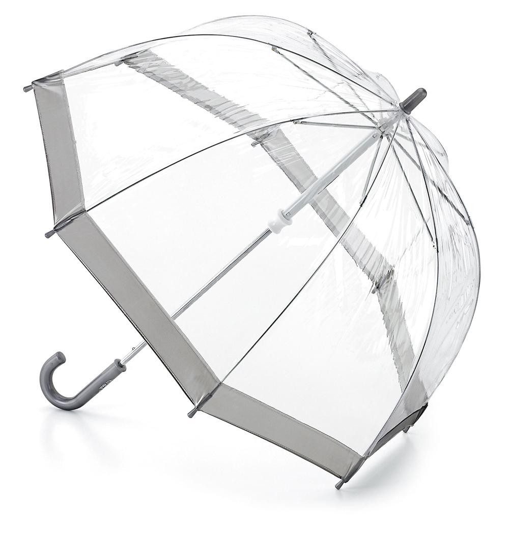 Зонт детский Fulton, расцветка: серебряный. C603-03 SilverC603-03 SilverСимпатичный прозрачный зонтик в форме купола с цветной полоской обязательно понравится Вашему ребенку! Специальная безопасная и надежная технология открывания и закрывания. Модная форма купола. Зонт отлично защищает от дождя, и при этом он абсолютно прозрачен. Прочный ветроустойчивый каркас из фибергласса. Длина в сложенном виде 68,5 см, диаметр купола 65 см