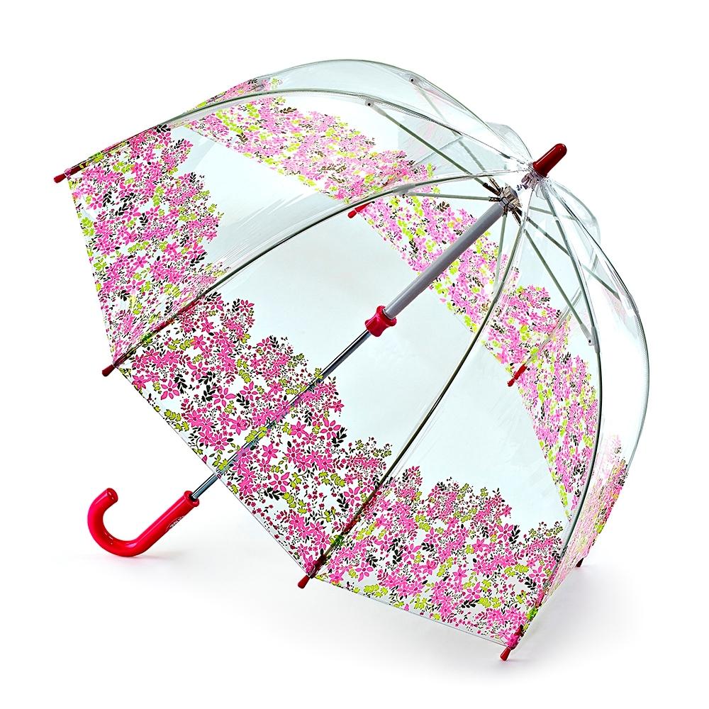 Зонт детский Fulton, расцветка: расцветкаы. C605-3044 PrettyPetalsC605-3044 PrettyPetalsСимпатичный прозрачный зонтик в форме купола с ярким узором обязательно понравится Вашему ребенку! Специальная безопасная и надежная технология открывания и закрывания. Модная форма купола. Зонт отлично защищает от дождя, и при этом он абсолютно прозрачен. Прочный ветроустойчивый каркас из фибергласса. Длина в сложенном виде 68,5 см, диаметр купола 65 см