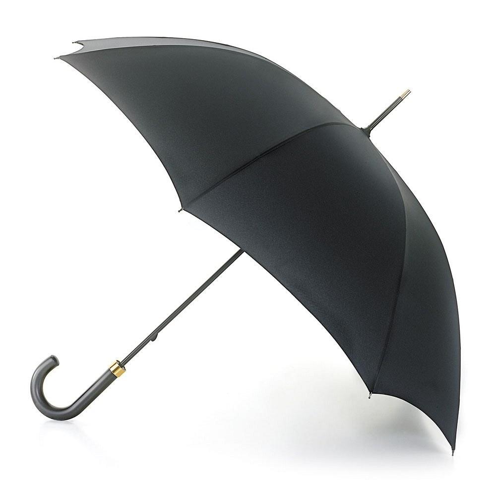 Зонт мужской трость Fulton, расцветка: черный. G801-01 BlackG801-01 BlackКлассический элегантный мужской зонт-трость. Стильный каркас черного цвета Купол из плиэстера исключительной выделки Длина зонта в сложенном виде 90 см, диаметр купола 106 см