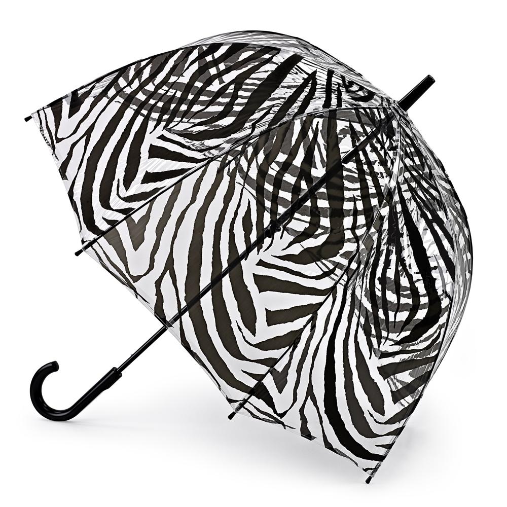 Зонт-трость женский Fulton, механический, рисунок: рисунокы. L042-2519L042-2519 ZebraОбразец элегантности! Именно под таким зонтом ходит королева! Специальная безопасная и надежная технология открывания и закрывания. Модная форма купола. Прозрачный зонт отлично защищает от дождя, и при этом он абсолютно прозрачен. Прочный ветроустойчивый каркас из фибергласса. Длина в сложенном виде 94 см, диаметр купола 89 см
