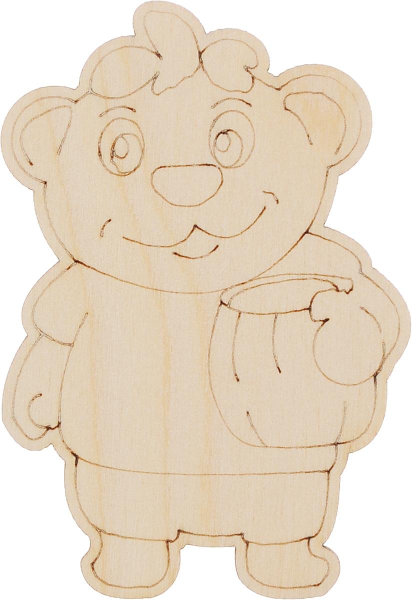 Деревянная заготовка Астра Мишка с медом, 7 x 9 см582124Заготовка Астра Мишка с медом изготовлена из дерева. Изделие, выполненное в виде забавного мишки, станет хорошим объектом для вашего творчества и занятий декупажем. Заготовка, раскрашенная красками, будет прекрасным украшением интерьера или отличным подарком.