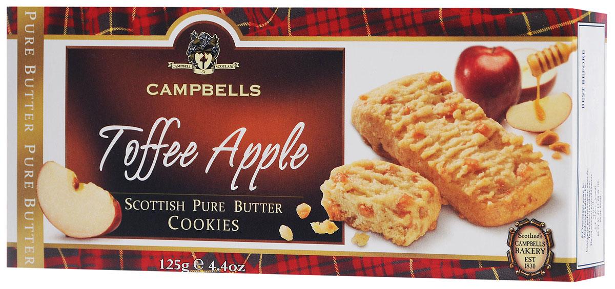 Campbells Pure Butter печенье песочное с кусочками яблочка и карамели, 125 г 1520094