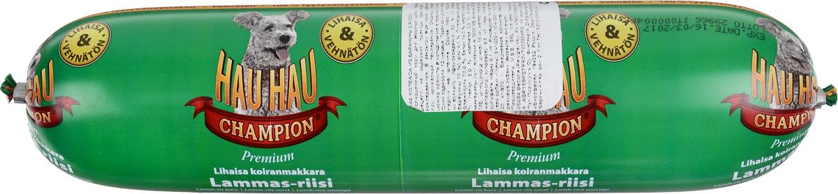 Колбаса для собак Hau-Hau, из баранины с рисом, 800 г81200Колбаса для собак Hau-Hau содержит большое количество мяса и подходит для собак любых размеров. Колбаса изготовлена из свежего мяса, содержание которого не менее 95%. Как связующее вещество используется мелкомолотый рис, продукт также обогащен витаминами и минералами. Колбаса не содержит пшеницу, пищевые красители, консерванты, кровь, рыбу и свинину. До вскрытия упаковки можно хранить при комнатной температуре. Открытый продукт следует хранить в холодильнике в течение 2-3 дней. Состав: мясо и продукты животного происхождения 95% (из которых баранины 10%), рис 4,1%, витамины и минералы. Пищевая ценность: влажность 70%, белки 14,0%, масла и жиры 10%, прокаленный остаток 5%, клетчатка 0,5%. Добавленные витамины и минералы: витамин A 3000 М.Е., витамин D3 300 М.Е, цинк (оксид цинка) 16 мг, железо (пантагидрат железного купороса) 6,5 мг, медь (сульфат пантагидрат меди) 0,1 мг. Товар сертифицирован.