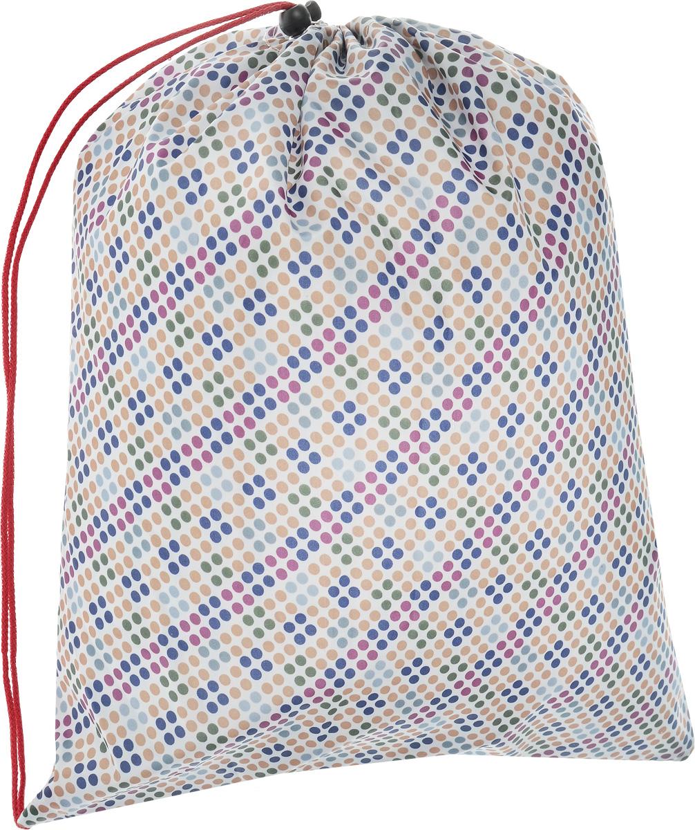 Сумка для сменной обуви Eva, цвет: белый, желтый, синий, 36 х 40 смЕ25_мелкие кружочкиСумку для сменной обуви Eva удобно использовать как для хранения, так и для переноски сменной обуви. Она выполнена из прочного полиэстера и затягивается сверху текстильными шнурками. Плотный материал обеспечит надежность и долговечность сумки. Шнурки фиксируются в нижней части сумки, благодаря чему ее можно носить за спиной как рюкзак.