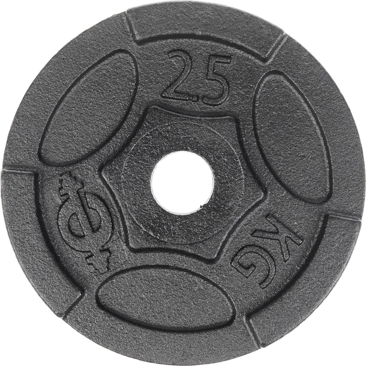 Диск чугунный Euro-Classic, 2,5 кг, посадочный диаметр 26 ммES-0244Идеальная геометрия и ровная поверхность диска Euro-Classic достигается путем применения самого современного оборудования, полностью исключающего механическую обработку изделий. Он выполнен из прочного чугуна с покрытием из порошковой краской. Захваты для рук позволяют без труда поднимать диски с пола. Диаметр диска: 16 см. Посадочный диаметр: 26 мм. Вес диска: 2,5 кг. Толщина диска: 2,7 см.
