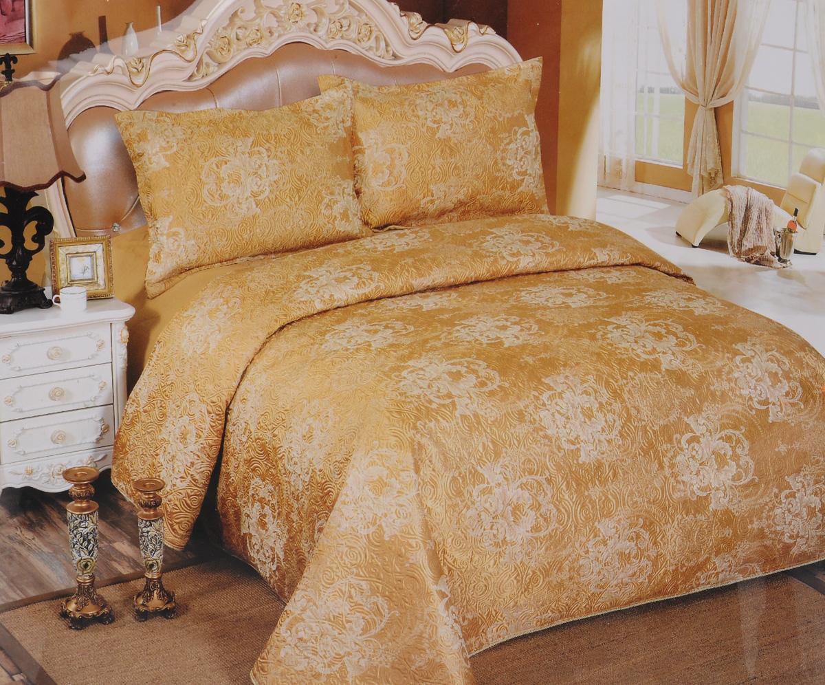 Комплект для спальни Arya Ivonne, покрывало 250 х 260 см, 2 наволочки 50 х 75 смTR1001115Комплект для спальни Arya Ivonne выполнен из высококачественного полиэстера и состоит из покрывала (250 х 260 см) и двух наволочек (50 х 70 см). Ткань является матовой, что придает ей изысканный внешний вид. Советы по уходу: - Эта ткань устойчива к машинной стирке в холодной воде (до 30°С). - Не рекомендуется отбеливать. - Гладить утюгом, регулятор которого установлен на минимум (до 110°С). Компания Arya - признанный турецкий лидер на рынке постельных принадлежностей и текстиля для дома. Поэтому вы можете быть уверены, что приобретенный текстиль доставит вам и вашим близким удовольствие.