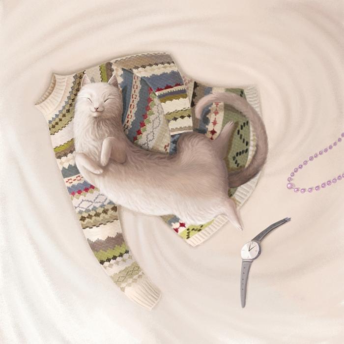Открытка Кошка. Автор Варя КолесниковаKV10-001Оригинальная дизайнерская открытка «Кошка» выполнена из плотного матового картона. На лицевой стороне расположена репродукция работы художницы Вари Колесниковой с кошкой, спящей на кровати. Такая открытка станет великолепным дополнением к подарку или оригинальным почтовым посланием, которое, несомненно, удивит получателя своим дизайном и подарит приятные воспоминания.
